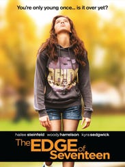 """A poster for """"The Edge of Seventeen."""""""