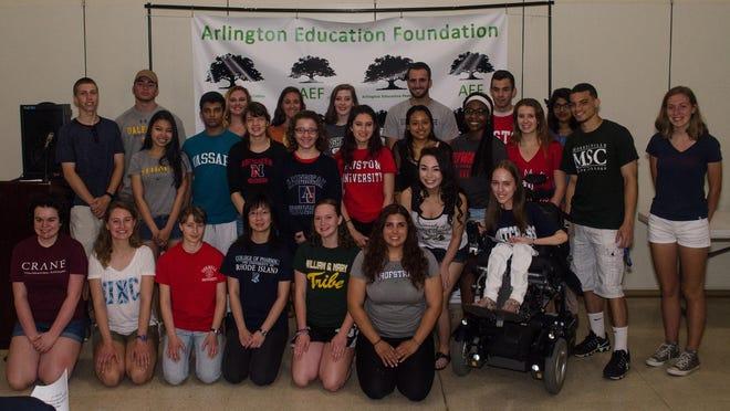 The Arlington Education Foundation awarded scholarships to Arlington High School seniors.