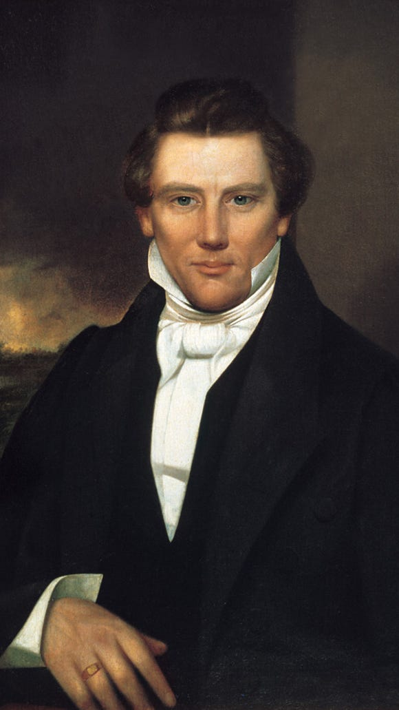 Joseph_Smith Jr. portrait owned by Joseph Smith III