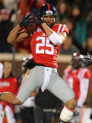 Ole Miss defensive back Cody Prewitt is capable of dropping in the box as a defacto linebacker, while freshman C.J. Hampton is more of a cover safety.