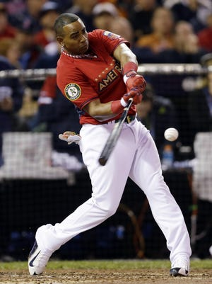 Yoenis Cespedes, hitting .302 with 9 HRs and 35 RBIs, won the Home Run Derby in 2013-14.