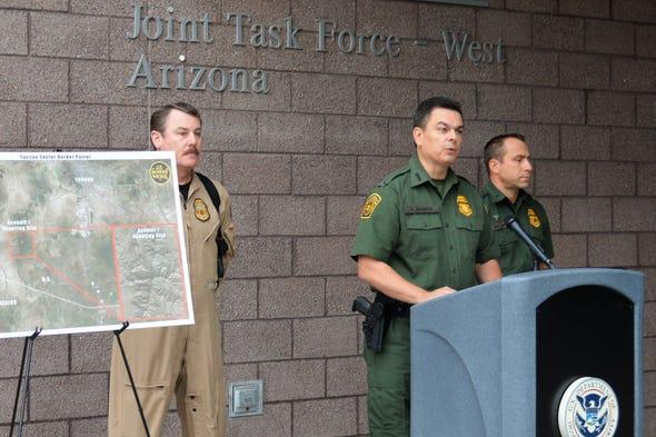 Border Patrol officials said a suspected undocumen...