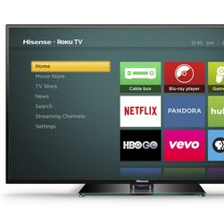 The Hisense Roku TV.