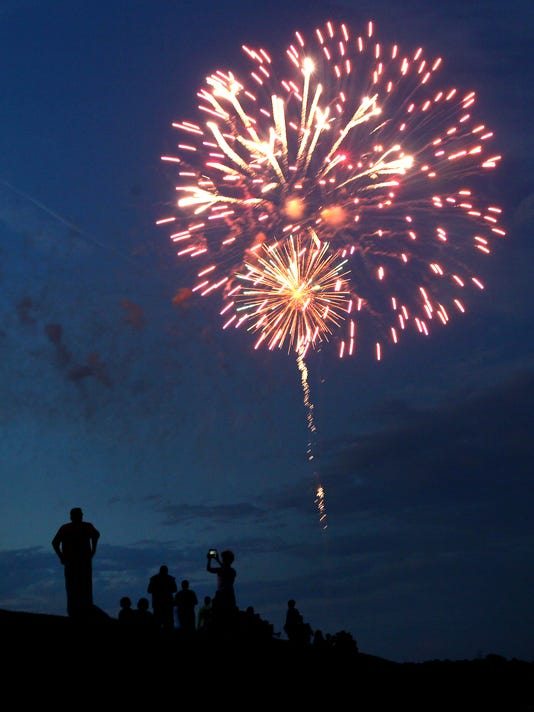 Pre-Fourth Extravaganza fireworks at Big Oaks Recreation and Hartwell Dam