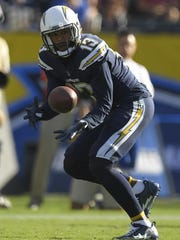 The Chargers' Keenan Allen makes one of his 12 receptions