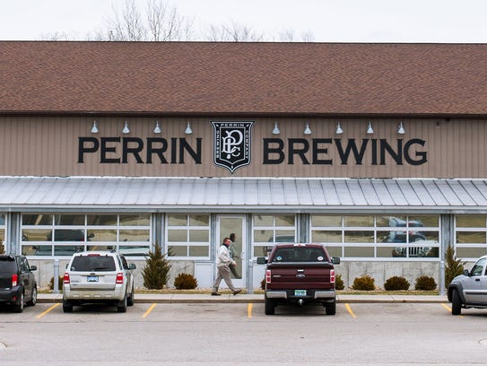 The exterior of Perrin Brewing Company at 5910 Comstock