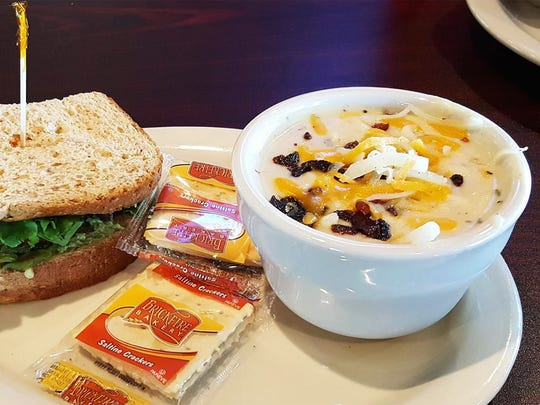 The Southwest turkey sandwich and the baked potato soup are offered as part of a lunch special ($6.50).