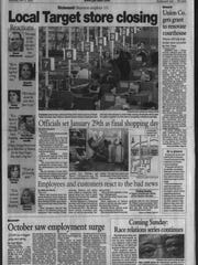 A look at the Nov. 6, 2005 edition of the Palladium-Item,