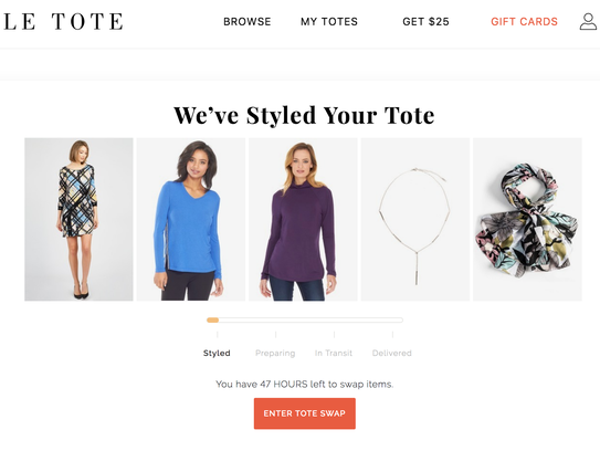 Le Tote clothing subscription