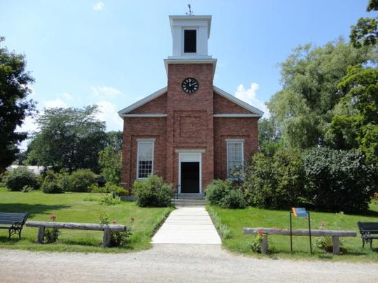 The Charlotte Meeting House, located at the Shelburne Museum since 1952 contains the pews, pulpit parts and cupola from the Miltonboro Methodist Episcopal Church.
