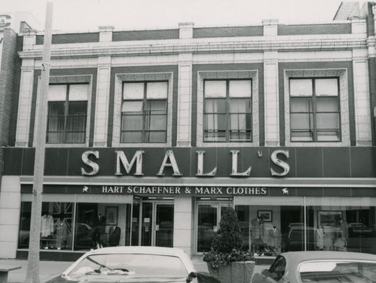 Small's men's store, 211 S. Washington Ave., date unknown.