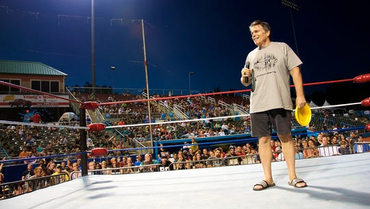 Lanny Poffo appears at Northeast Wrestling's Wrestling