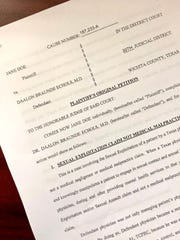 A lawsuit filed in the 30th District Court Friday alleges sexual exploitation of a patient by Dr. Daalon Braunde Echols, a local neurologist.