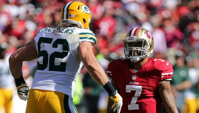 Packers LB Clay Matthews (52) and 49ers QB Colin Kaepernick hope to help their teams rebound from early season struggles.