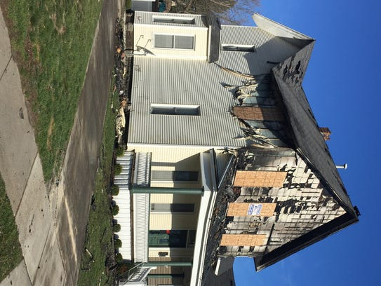 A house at 1515 Seventh St. had serious damage in a