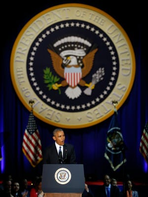 President Barack Obama delivers his farewell Jan. 10 in Chicago.