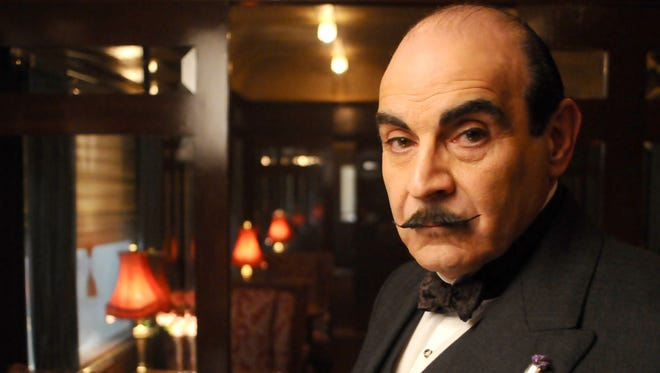 """David Suchet as Hercule Poirot from the PBS presentation of """"Murder on the Orient Express."""""""