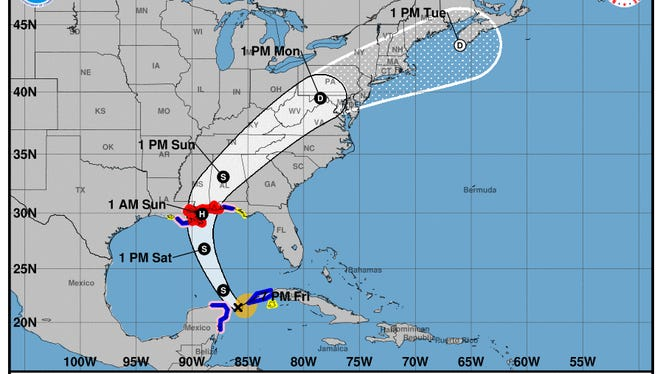 The latest report for Tropical Storm Nate.