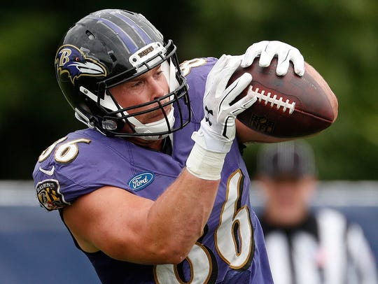Ravens tight end Nick Boyle.