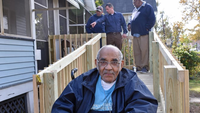 World War II veteran Herman Petway Sr. has a new ramp at his home in Vineland thanks to the help of of the Cumberland County Habitat for Humanity and others.