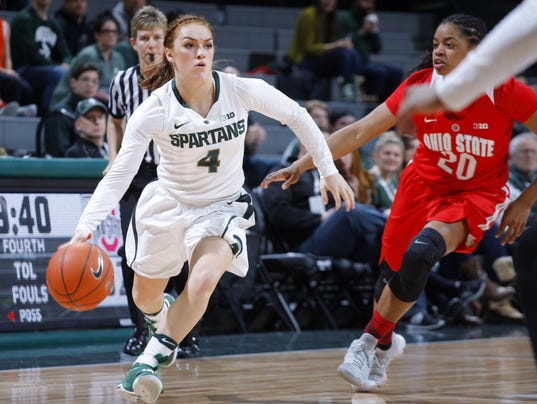 Taryn McCutcheon stands tall for Michigan State women's ...