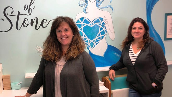 Carisa Phillips and Jamielyn Mosca are the new owners of Heart of Stone in Sandwich.    Photo by Mark Snyder