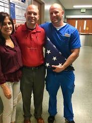 Susan Pellerin, RN, John Harrell, MICU Nurse Manager,
