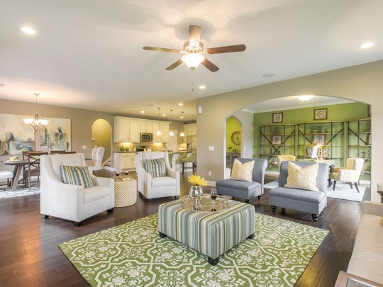 Goodall Homes and Drees Homes are two of the homebuilding companies working to meet demand for new homes in Sumner County. Both builders offer open floor plans. Shown here is a Goodall model.