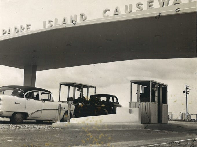The toll booths at the Padre Island Causeway in May