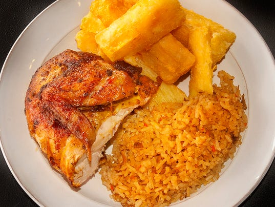Charcoaled chicken dinner at Yummy Pollo