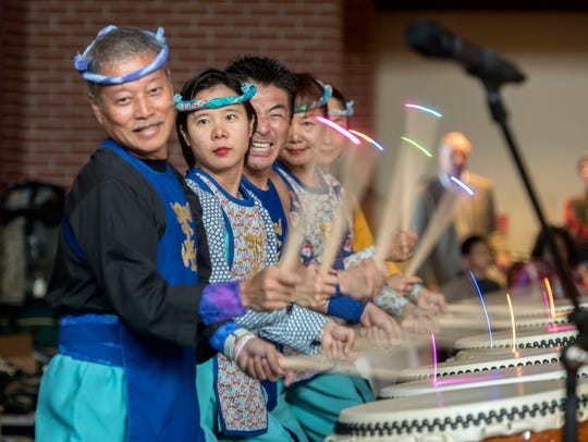 The Matsuriza Taiko Drummers perform during last year's Japanese New Year Celebration at The Wright Place. This year's event is set for Saturday.