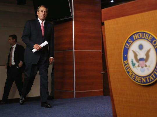 House Speaker John Boehner, R-Ohio, arrives for his