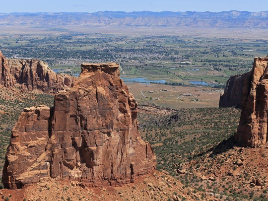 Some of the overlooks at Colorado National Monument offer views of the Colorado River and the Grand Junction area.