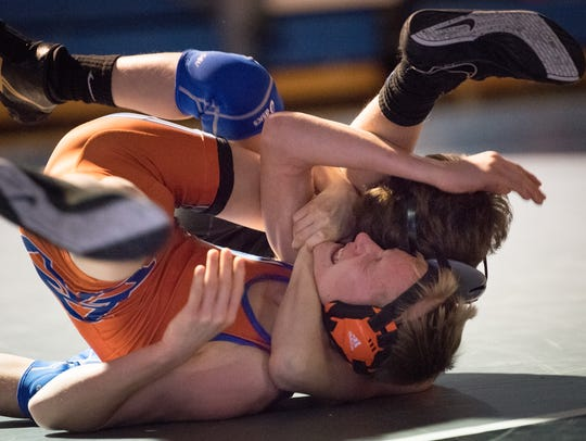 Current sophomore Alec Hunter made Oshkosh West wrestling history when he became the first freshman to qualify for state last season.