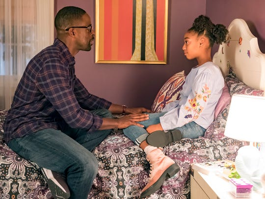 Randall (Sterling K. Brown) talks to his daughter,