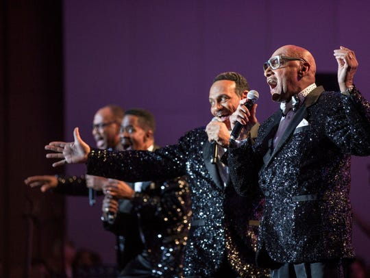 The Temptations take the stage at the Pacific Steel and Recycling Four Seasons Aren Tuesday night.