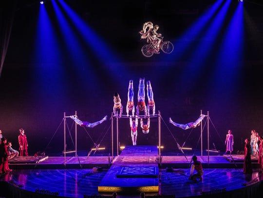 """""""Tournik"""" in Cirque du Soleil's """"Corteo,"""" 2018"""