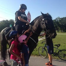 The mounted officers from the St. Pete department  are already getting attention.