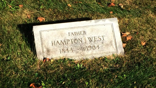 The headstone of Wade Hampton West might have been added years after his death in 1904.