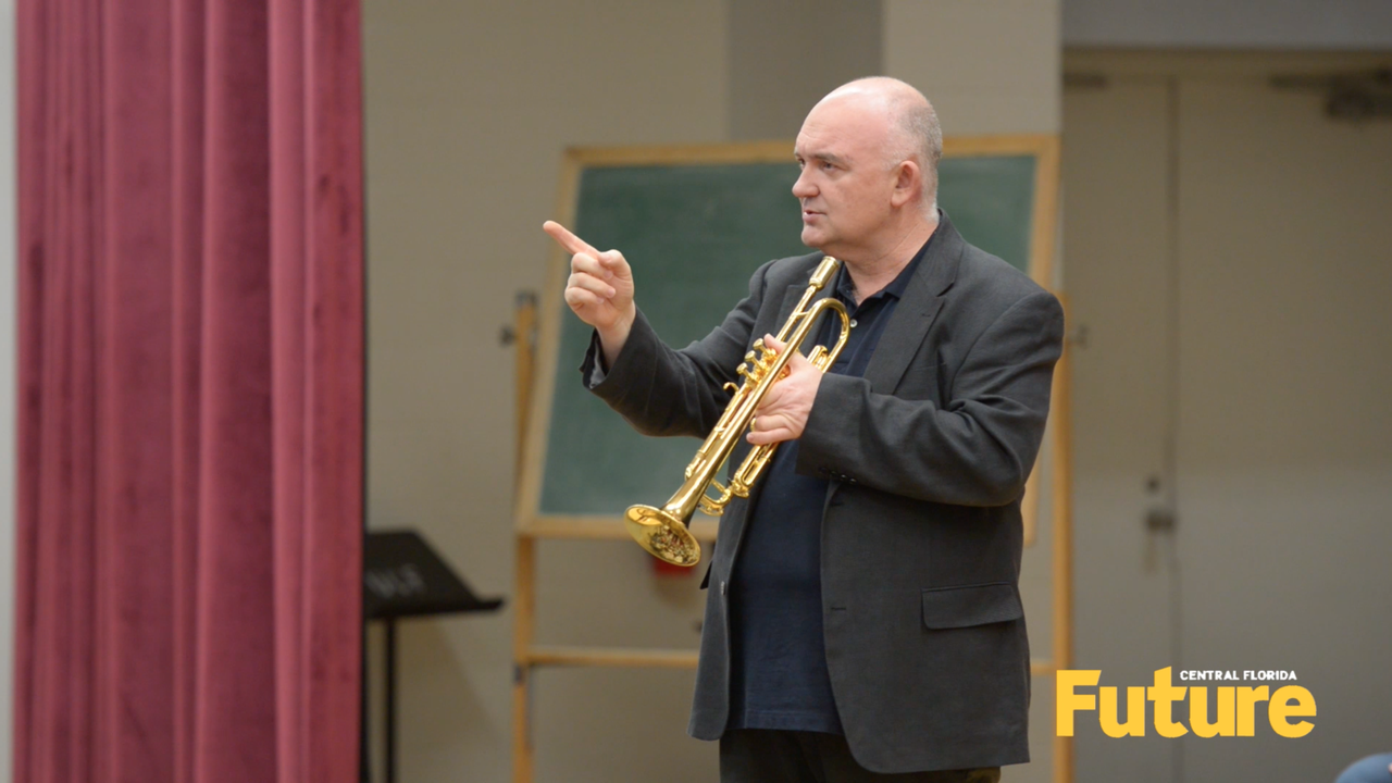 Video: Jazz legend James Morrison visits UCF
