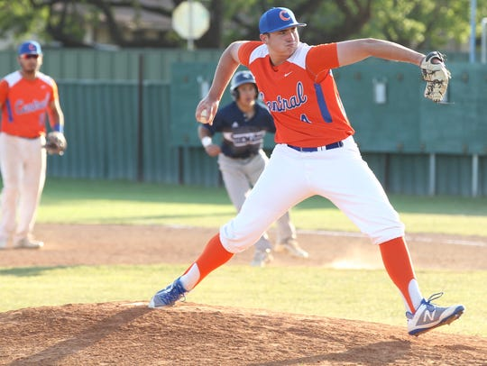 San Angelo Central High School pitcher Spencer Burress