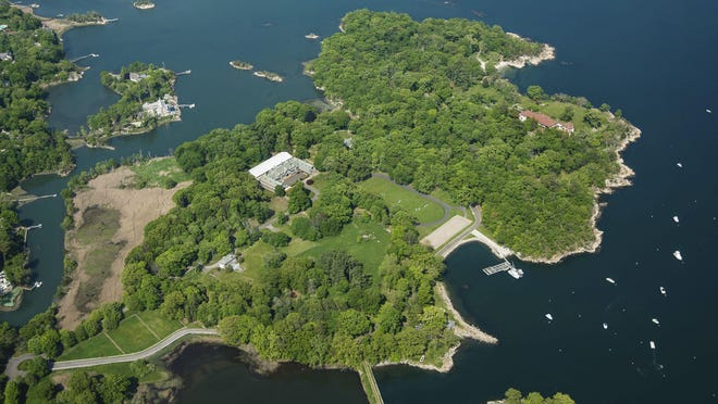 This 63-acre estate on Great Island in Long Island Sound in Darien, Conn., was listed Thursday for $175 million.
