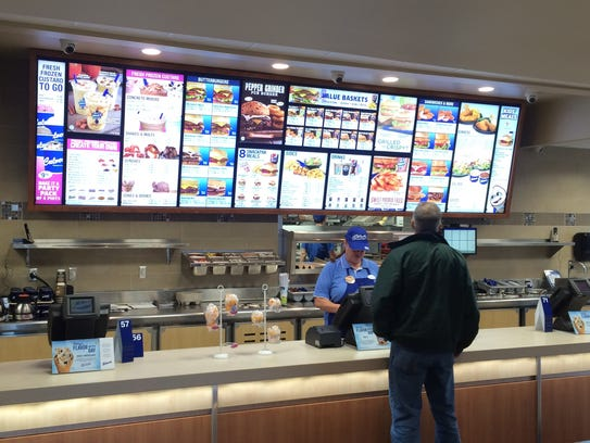 The remodeled Culver's restaurant includes a larger
