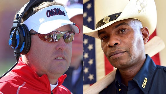 Hugh Freeze (left) and Kenneth Hampton