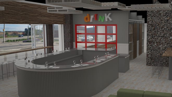 A rendering of Peace Water Winery's future taproom at 747 N. College Ave., just off Mass Ave.