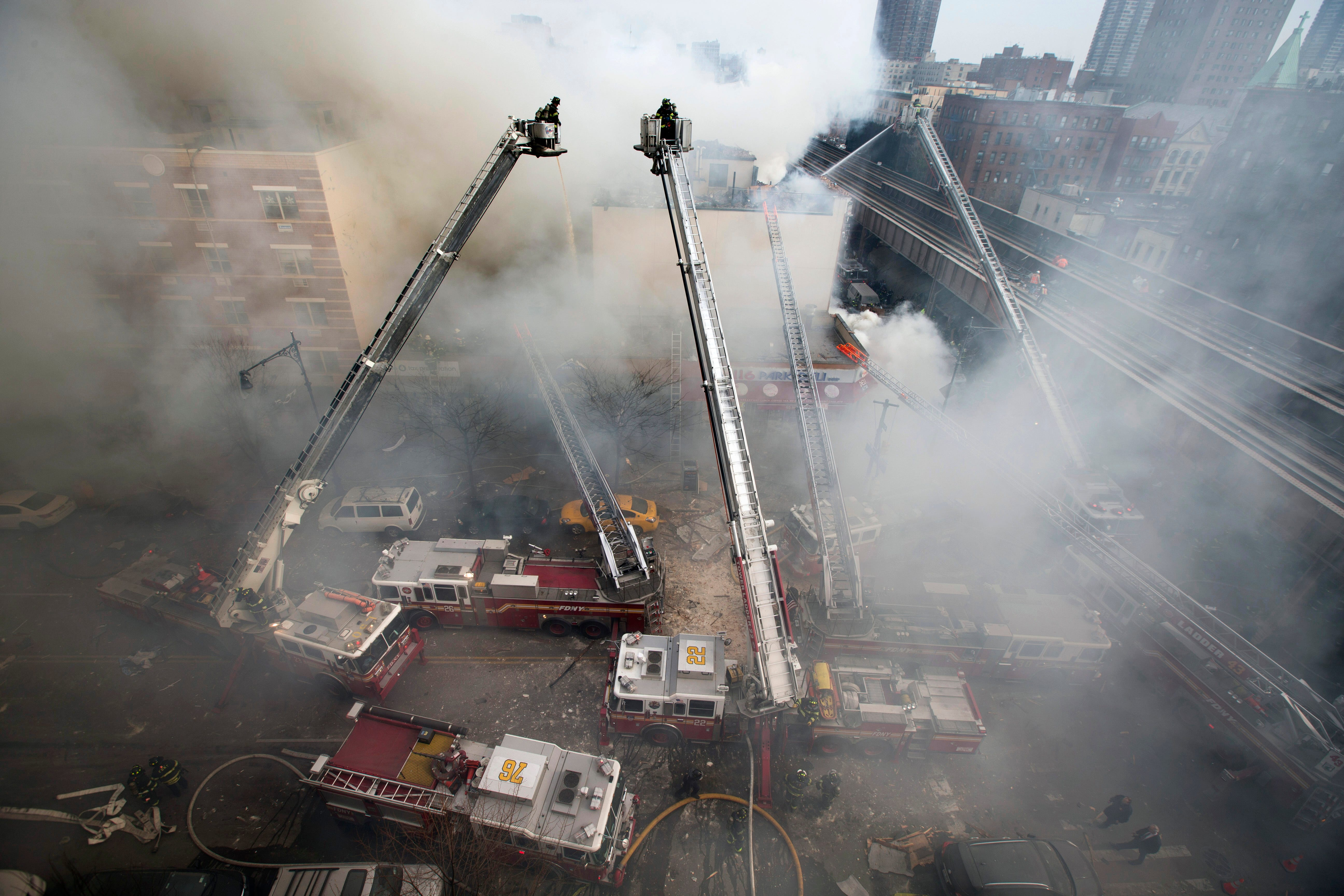 01 GAS PIPES. Firefighters respond to the March explosion in New Yorku0027s East Harlem neighborhood that left eight dead. Con Edison spokesman Bob McGee says a ... & Look out below: Danger lurks underground from aging gas pipes