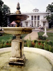 If you are looking for something to do in Nashville for free, the garden behind the historical Belmont Mansion on the grounds of Belmont College, here July 19, 1988, is one of Music City's hidden treasures.