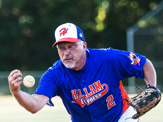 Hallam's Brian Crumbling, 50, has said this will be the final year in his 32-year Susquehanna League baseball career. YORK DISPATCH FILE PHOTO