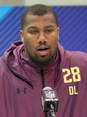 """A lot of people been saying I'm going to the Colts, but you never know,"" Bradley Chubb said Saturday at the NFL Combine. ""If that happens, I'll be happy, of course, to get drafted to such a great city."""