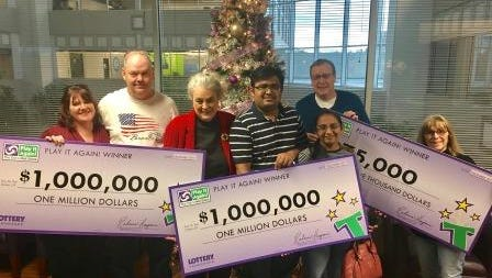 Three Tennesseans win $1 million each — two players win by entering non-winning tickets into Play It Again!; 1 wins from playing 'Millionaire Jumbo Bucks.'